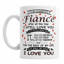 To My Gorgeous Fiance Novelty Mug Valentine's Day Valentines Coffee Girlfriend