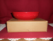 Longaberger WOVEN TRADITIONS VEGETABLE  BOWL ~ TOMATO!   NEW IN BOX!     L@@K!