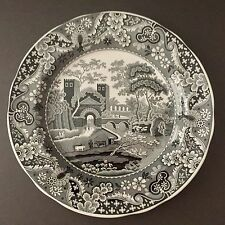 NEW Spode Archive Collection Black White 1806 CASTLE 10 1/2 in. Dinner Plate