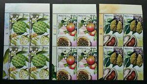 Rare Fruits IV Malaysia 2013 Nam Nam Passion Plant Food (stamp block 4) MNH