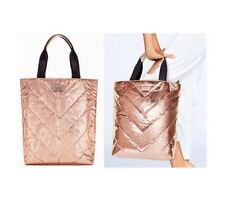 Victoria's Secret VS Metallic Rose Gold Quilted Bag