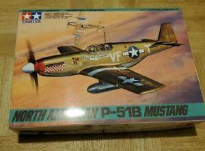 Tamiya North American P-51B Mustang 1/48 scale Aircraft Series 42, Open Box