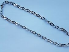 Silver tone oval link lightweight chain choker length necklace