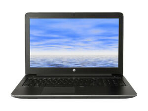"""HP Zbook 15 G3 i7 6820HQ 2.7GHz 16GB 256GB SSD 15.6"""" 1920x1080 2GB nVidia M1000M"""