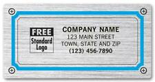250 Large Chrome Poly Address Labels, NEBS/Deluxe # 1510-1