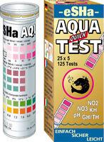 eSHa Aqua Quick Test 6-in-1 Teststreifen Wassertest Streifentest 50 Stück Süßw.