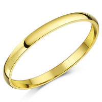 9ct Yellow Gold Ring Light Weight D Shaped Wedding Band 2mm Gold Ladies Ring