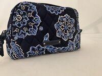 Vera Bradley Medium Case Bag Cosmetic Makeup Tote Backpack Blue Bandana