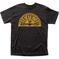 Sun Records Memphis Logo T Shirt Mens Licensed Rock N Roll Music Retro Tee Black