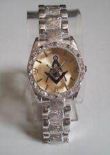 Men's Silver finish/Gold finish dial with Mason dressy wear  Fashion wrist watch