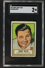 Babe Ruth New York Yankees 1952 Topps Look N See #15 Graded Card SGC 2