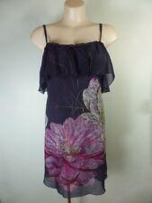 PORTMANS purple pink white ruffle Dress SILK 10 parties Xmas Weddings Formal
