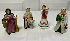 Vintage Lenox 1994 Christmas Figurines Old World Santa Claus & Ladies Porcelain