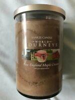 Yankee Candle New England Maple Cream World Journeys 2 wick Large Tumbler Jar
