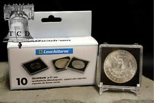 5 Morgan Silver Dollar 2x2 Coin Holder Snap Capsule 38mm QUADRUM Storage Case