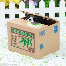 Robotic Stealing Money Panda Toy Itazura Coin Bank Kids Gift Coin Saving Box