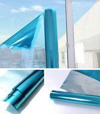 Blue&Silver Mirrored Window Film Home tint Glass Sticker Reflective Vinyl