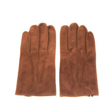 RRP €400 DSQUARED2 Suede Leather Gloves Size 9.5 / L Silk Lining Made in Italy