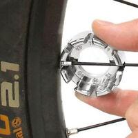 8 Way Spoke Nipple Key Bike Cycle Wheel Rim Wrench Spanner Tool