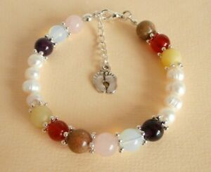 Gemstone Crystal Healing Morning Sickness Healthy Pregnancy & Birth Bracelet GB