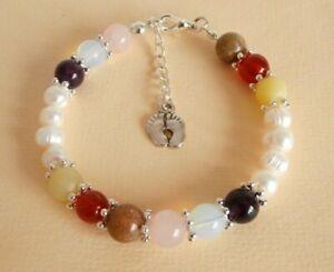 Gemstone Crystal Healing Morning Sickness Healthy Pregnancy & Birth Bracelet GB