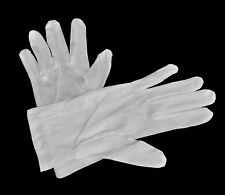 1 Paar weiße Laborhandschuhe - Größe M - aus Baumwolle - NEU