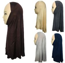 One Piece Plain Hijab For Kids Young teenage Girls Cotton Viscose Stretchy New