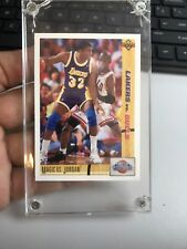 MAGIC VS JORDAN CLASSIC CONFRONTATION 1991 NBA CARD (A8)
