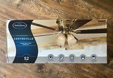 "Harbor Breeze Centreville 52"" Antique Brass Finish Ceiling Fanwith Light Kit"