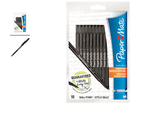 Paper mate 10 pack black stylo ball point pens 1.0mm