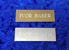 Personalised Engraved Plate Label Wedding Seating Office Door Gold or Silver