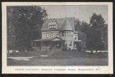 Postcard Womelsdorf Pennsylvania/Pa Frick Cottage Orphans' Home view 1907