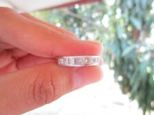 .70 Carat Princess Cut Diamond Half Eternity Ring PT900 codeHE50 sepveragara