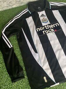 Newcastle United 07/09 Adidas Northern Rock Long Sleeve Home Football Shirt XL