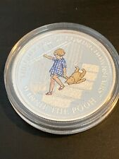 WINNIE THE POOH DISNEY ENAMEL ONLY WAY COMING DOWNSTAIRS SILVER NICKEL COIN