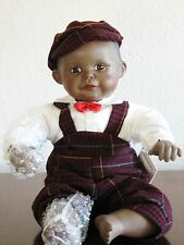 "Ashton Drake Porcelain Doll ""DAVID"" 10 Inch African American Boy Doll NIB"
