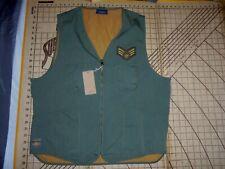 Mens Large Khaki Mango Raz'N Hell Embroidered Vest - Nwt