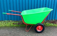 NEW XL Green Wheelbarrow 300 L Large garden stable yard double wheeled