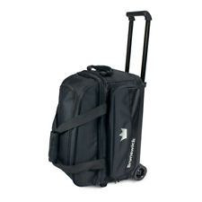 Brunswick Zone 2 Ball Double Roller Black Bowling Bag