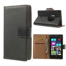 Nokia Lumia 1020 Wallet Case Echt Leder Genuine Split Magnet Etui Hülle Schwarz