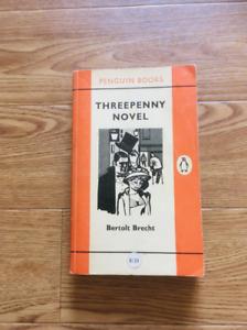 Threepenny Novel Penguin Books vintage paperback Bertolt Brecht