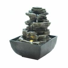 Cascading Fountains Tiered Rock Formation Tabletop Fountain - 10018474