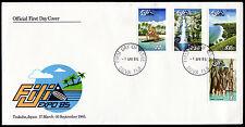 Fidschi 521-24 FDC, Sonderausstellung EXPO-Japan 1985