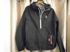 NWT Spyder Mens Large Half Zip Pullover Contact Anorak Shell Jacket 417602 $99