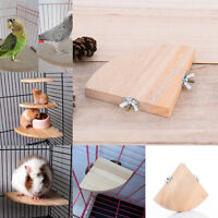 Pet Bird Parrot Hamster Wooden Cage Perches Stand Platform Hanging Toys Hot Sale