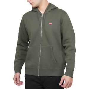Levis Men Zip Up Hoodie Athletic Casual Cotton Clothing Core Ng Thyme 34259-0006