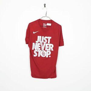 NIKE Big Logo T Shirt Tee Red | Medium M