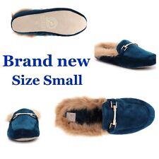 Chinese Laundry Velvet Slippers 5-6 SMALL slides slip-on blue House Shoes NIB