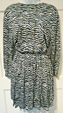 JUST CAVALLI ZEBRA PRINT BLUE BLACK DRESS UK SIZE 10 WOMEN'S DESIGNER