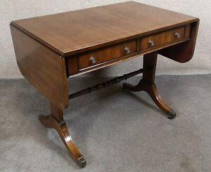Regency Style Inlaid Mahogany Sofa Table By Thomas Glenister High Wycombe, Bucki